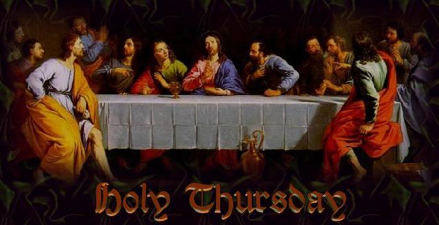 HOLY THURSDAY title image